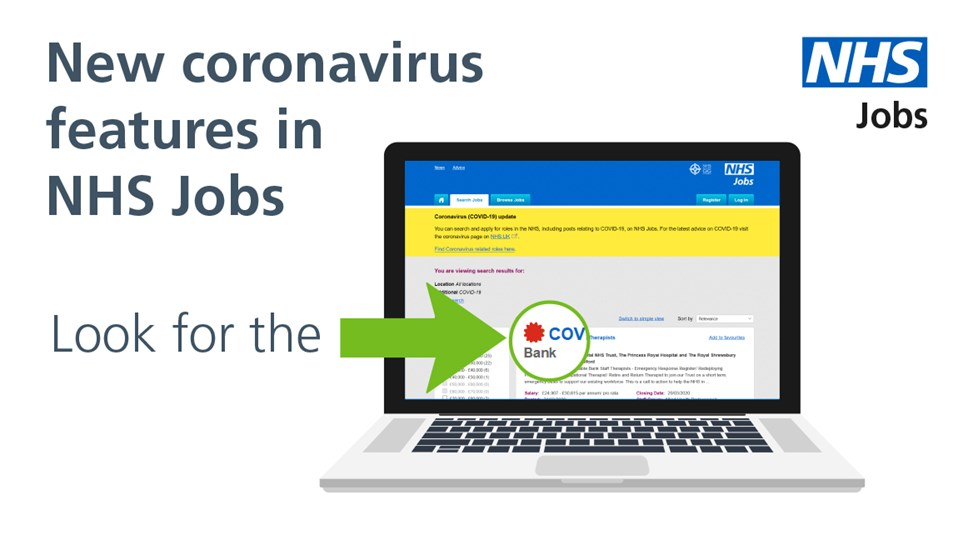 Computer with NHS Jobs site